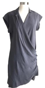 Halston short dress Grey on Tradesy