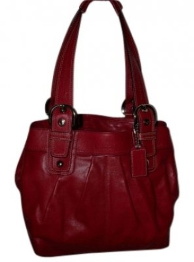 Preload https://item4.tradesy.com/images/coach-ashley-outlet-ashley-style-red-leather-tote-24263-0-0.jpg?width=440&height=440