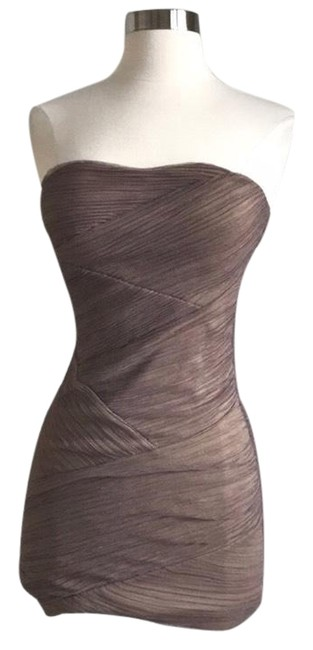 Item - Taupe Form Fitting Mini Short Night Out Dress Size 0 (XS)