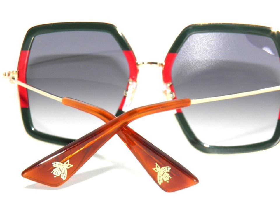 cb3ec68771c Gucci Red Green Gold Gg0106s 007 Gg 0106s Square Sunglasses - Tradesy