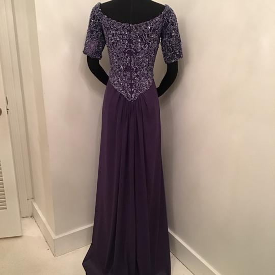 Cameron Blake Grape Chiffon 216687 Formal Bridesmaid/Mob Dress Size 10 (M) Image 1