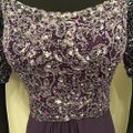 Cameron Blake Grape Chiffon 216687 Formal Bridesmaid/Mob Dress Size 10 (M) Image 3