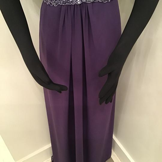 Cameron Blake Grape Chiffon 216687 Formal Bridesmaid/Mob Dress Size 10 (M) Image 4