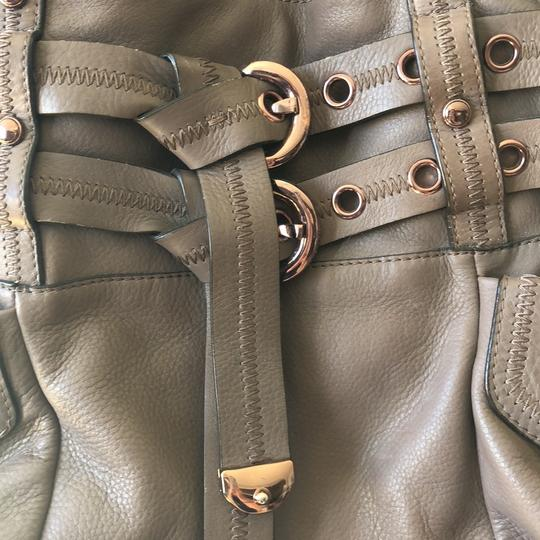 B. Makowsky Tote in taupe & rose gold embellishments Image 5