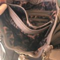 B. Makowsky Tote in taupe & rose gold embellishments Image 9