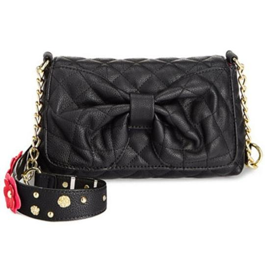 Betsey Johnson Quilted Floral Strap Wallet Cross Body Bag Image 2