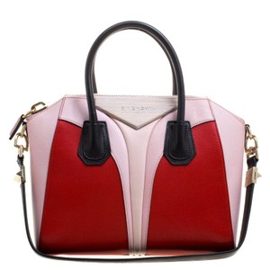 Givenchy Leather Geometric Fabric Satchel in Multicolor