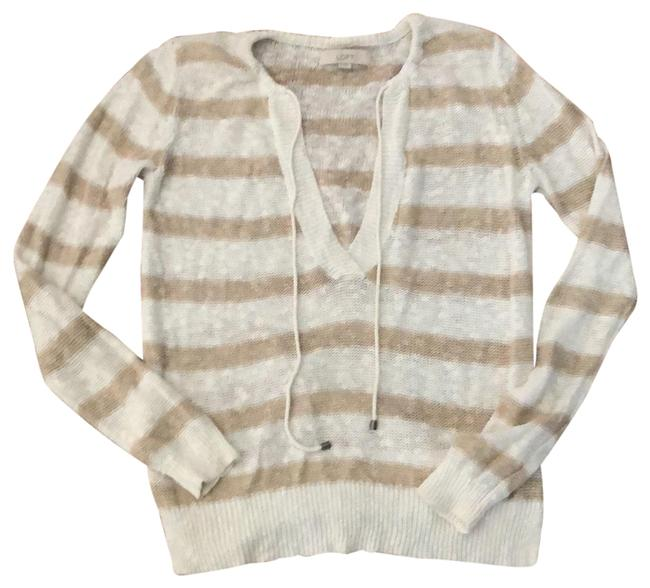 Preload https://img-static.tradesy.com/item/24263381/ann-taylor-loft-beige-and-ivory-striped-drawstring-pullover-tunic-size-8-m-0-3-650-650.jpg