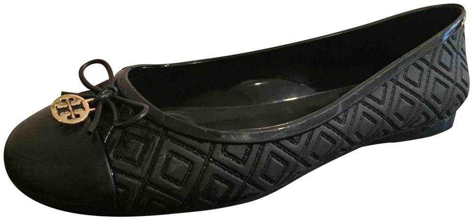 1a714c825 Tory Burch Black Jelly with Bow Flats Size US 8 Regular (M