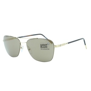 3d2fc0478872 Montblanc New 2018 ZEISS MB696 32F Metal Lightweight Rectangular Sunglasses