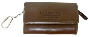 Coach Coach Brown Leather Wallet Key Chain