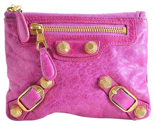 Preload https://img-static.tradesy.com/item/24263496/balenciaga-pink-amethyst-lambskin-gold-giant-hardware-coin-purse-wallet-0-3-540-540.jpg