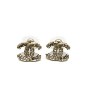 Chanel Chanel Moscova Classic CC Earrings Crystals