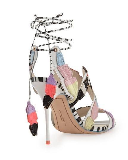 Sophia Webster Feather Date Night Night Out Hollywood Multi Color Black White Sandals Image 4