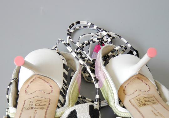 Sophia Webster Feather Date Night Night Out Hollywood Multi Color Black White Sandals Image 8
