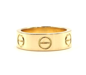 Cartier Yellow 18K gold Love band ring size 46 5.5mm wide
