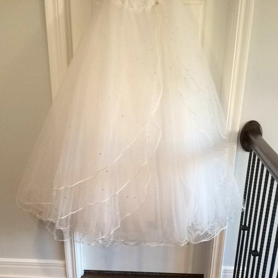 Mori Lee White Satin & Toile Traditional Wedding Dress Size 4 (S) Image 4