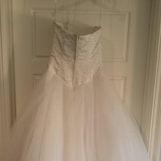 Mori Lee White Satin & Toile Traditional Wedding Dress Size 4 (S) Image 7