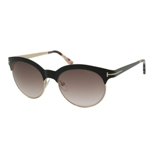 532f25de28437 Tom Ford New TF Angela FT0438 01F Women Round Metal Brow Bar Sunglasses  53mm - item