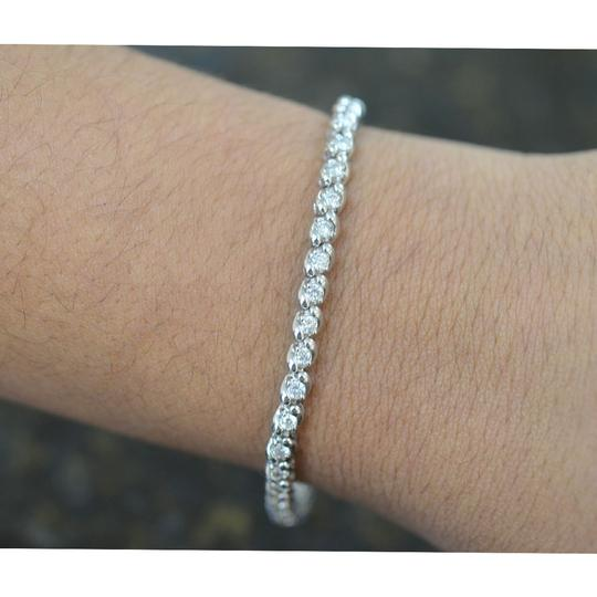Other 14k White Gold Diamond Tennis Bracelet Image 10