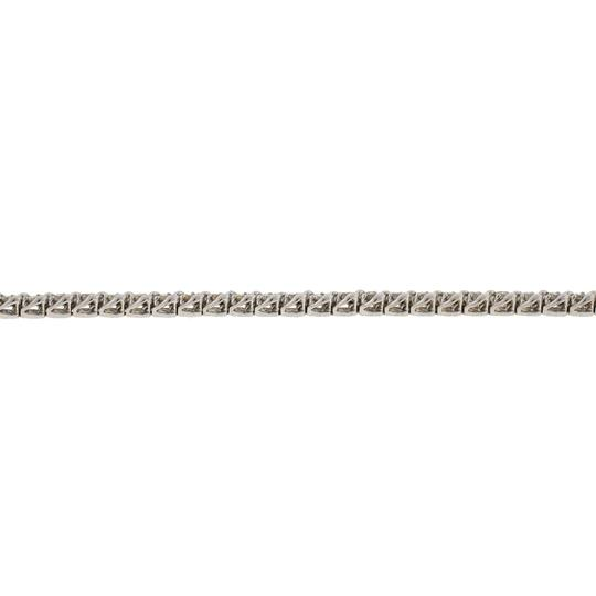 Other 14k White Gold Diamond Tennis Bracelet Image 5