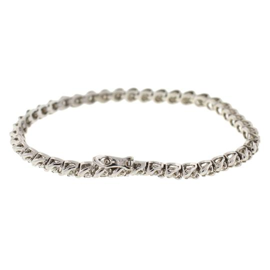 Other 14k White Gold Diamond Tennis Bracelet Image 8
