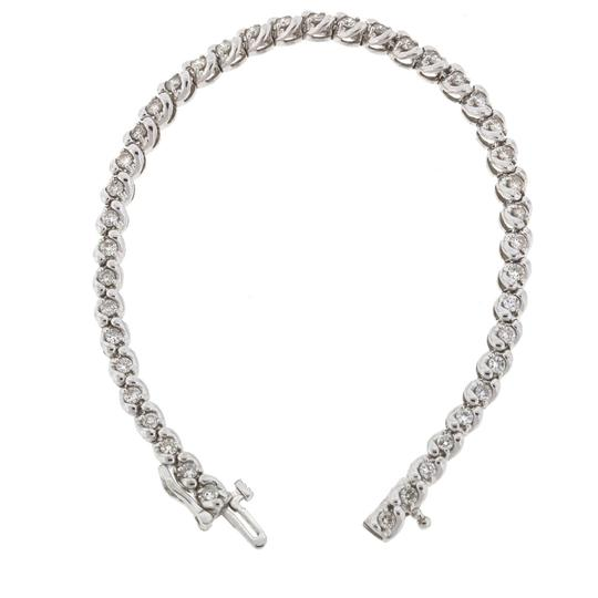 Other 14k White Gold Diamond Tennis Bracelet Image 9
