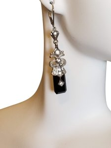 Diamonique Diamonique Vintage Onyx earrings
