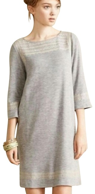 Preload https://img-static.tradesy.com/item/24263675/anthropologie-gray-edme-esyllte-embroidered-sweater-night-out-dress-size-0-xs-0-1-650-650.jpg