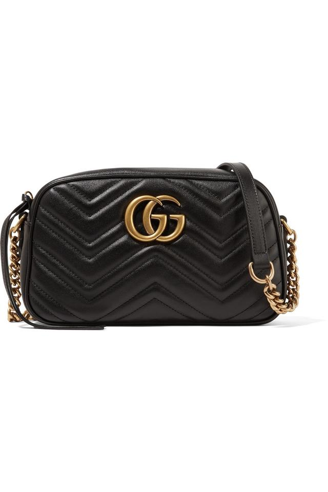 6ad82502472ad6 Gucci Marmont - Gg Small Matelasse Black Leather Shoulder Bag - Tradesy