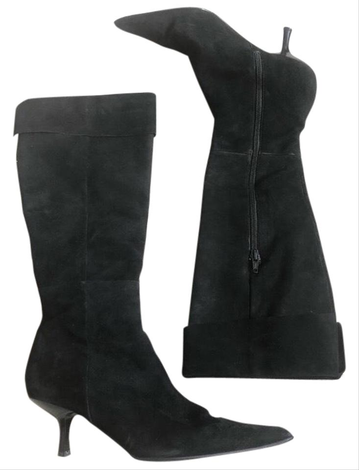 84ae86f8b7d Steven by Steve Madden Black Suede Knee High Heeled Boots/Booties Size US  6.5 Regular (M, B) 74% off retail