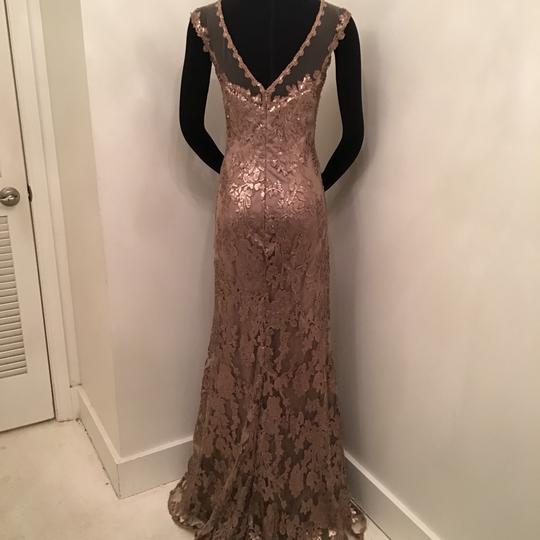Cameron Blake Bronze Sequin Lace/Tulle 117619 Formal Bridesmaid/Mob Dress Size 10 (M) Image 1
