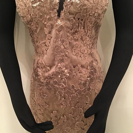 Cameron Blake Bronze Sequin Lace/Tulle 117619 Formal Bridesmaid/Mob Dress Size 10 (M) Image 3