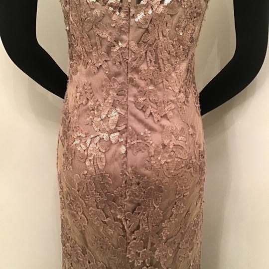 Cameron Blake Bronze Sequin Lace/Tulle 117619 Formal Bridesmaid/Mob Dress Size 10 (M) Image 7