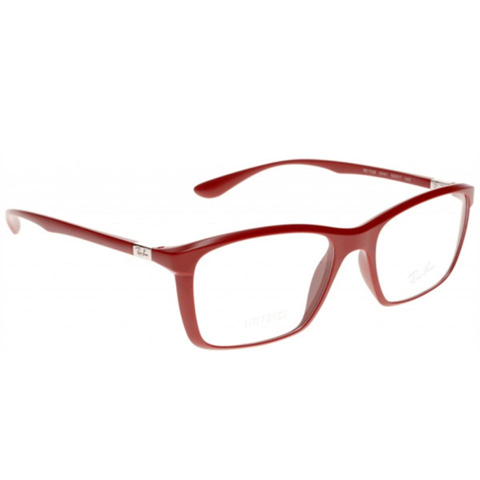 3c16cc2a07 Ray-Ban Matte Red Frame   Demo Lens Unisex Rectangular Eyeglasses ...