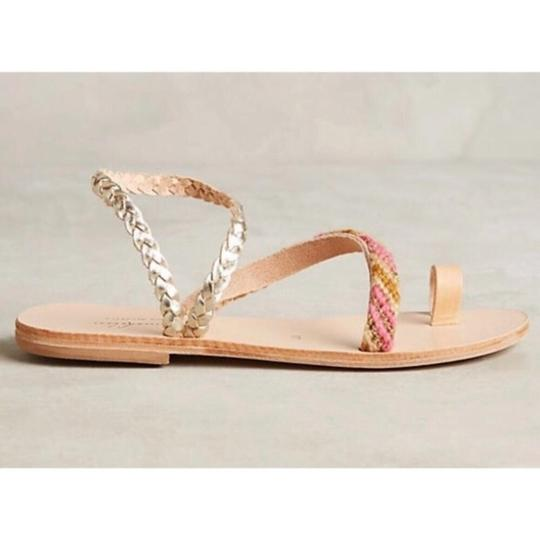 Anthropologie tan and pink Sandals Image 1