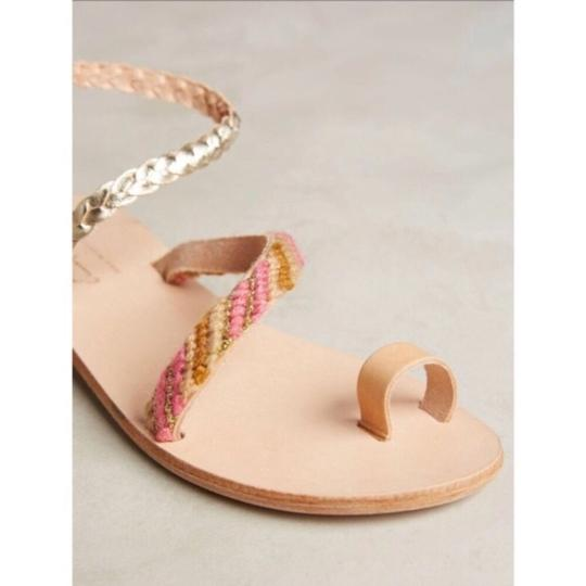 Anthropologie tan and pink Sandals Image 2