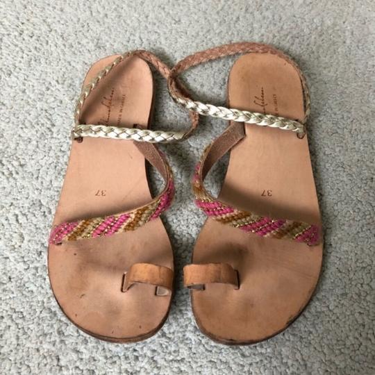 Anthropologie tan and pink Sandals Image 3