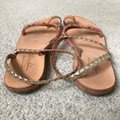 Anthropologie tan and pink Sandals Image 6
