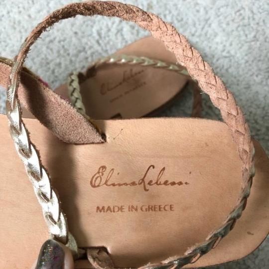 Anthropologie tan and pink Sandals Image 7