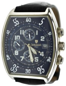 Lancaster Stainless Steel & Leather Men's Chronograph Watch (mm)