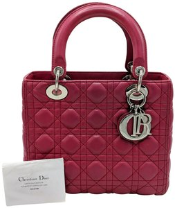 Dior Lady Square Timeless Classic Satchel in Burgundy, Red