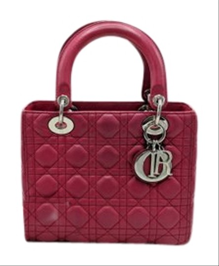 Dior Lady Square Timeless Classic Satchel in Burgundy, Red Image 1