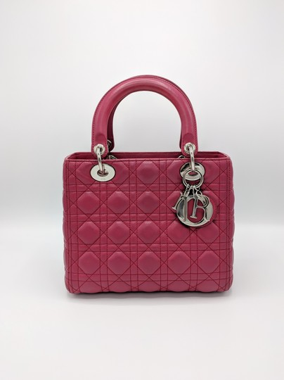 Dior Lady Square Timeless Classic Satchel in Burgundy, Red Image 2