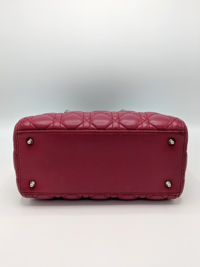 Dior Lady Square Timeless Classic Satchel in Burgundy, Red Image 3