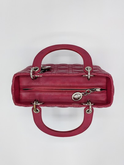 Dior Lady Square Timeless Classic Satchel in Burgundy, Red Image 4