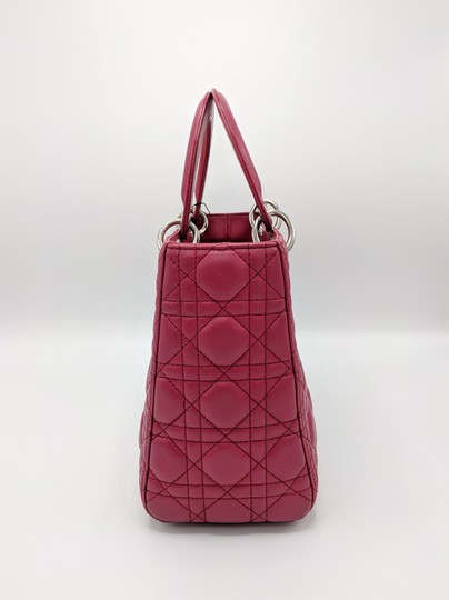 Dior Lady Square Timeless Classic Satchel in Burgundy, Red Image 5