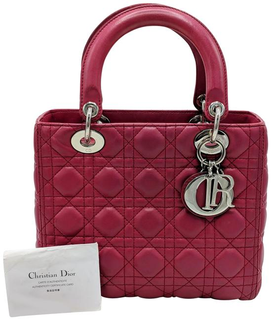 Item - Lady Red/Burgundy with Silver Hardware Burgundy Red Lambskin Leather Satchel