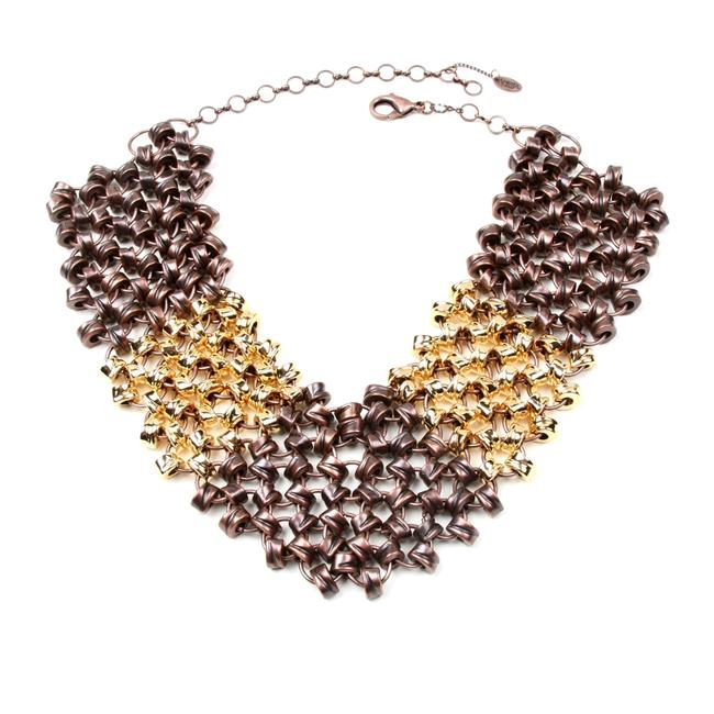 Amrita Singh Gold & Bronze Killer One Of A Kind Vibe Bib Necklace Amrita Singh Gold & Bronze Killer One Of A Kind Vibe Bib Necklace Image 1