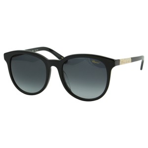 Chopard New SCH 171G BLK Women Gold Signature Plate Round Sunglasses 55mm